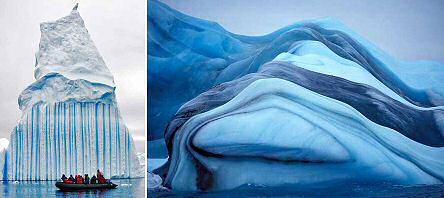 amazing striped icebergs