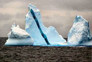 icebergs with stripes