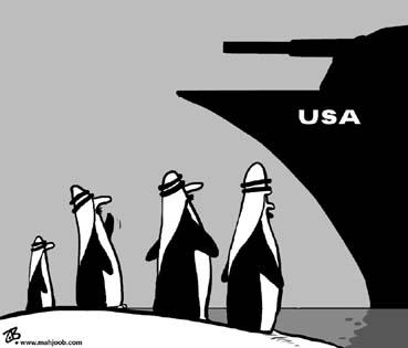Penguin cartoons in the Arabic news
