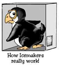 Icemaker penguin cartoon